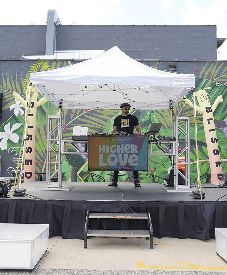 DJ Brian X performing on stage
